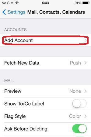 iOS7-Mail, Contacts, Calendar