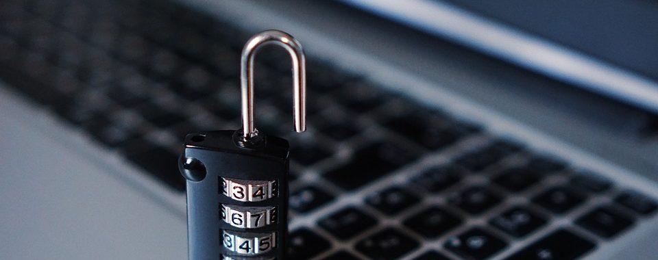 Computer and padlock